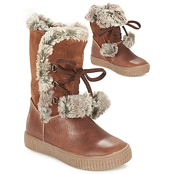 Shoes Girl Boots GBB NOUSTIK Cognac