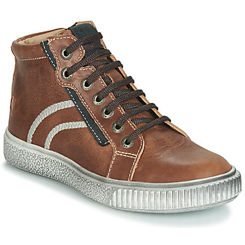 Shoes Boy High top trainers GBB NESTOR Vte / Brown