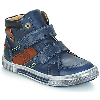 Shoes Boy Mid boots GBB RENDALL Blue / Brown