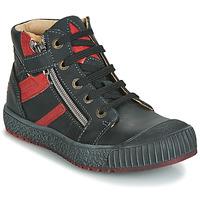 Shoes Boy High top trainers GBB RAMBOUTAN Vte / Black-brick / Linux