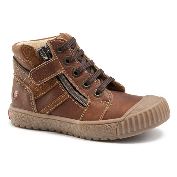 Shoes Boy High top trainers GBB RAMBOUTAN Vte / Brown / Linux