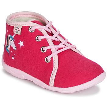 Shoes Girl Slippers GBB FEE ARC EN CIEL Raspberry