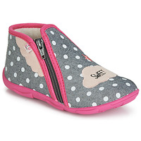 Shoes Girl Slippers GBB MILKY Grey / Pink
