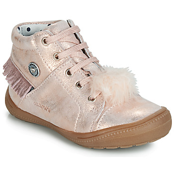 Shoes Girl High top trainers Catimini ROSALIE Vte / Pink / Powder