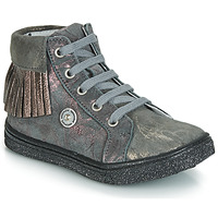 Shoes Girl High top trainers Catimini LOULOU Vte / Grey marble / Pink