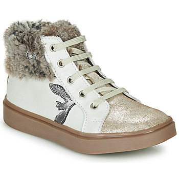 Shoes Girl High top trainers Catimini MARCELLE Vts / Beige / Flora