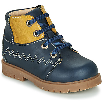 Shoes Boy Mid boots Catimini CHARLY Navy-mustard