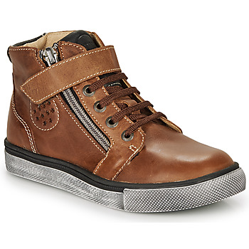 Shoes Boy High top trainers Catimini TOBBY Nub / Brown / Tommy