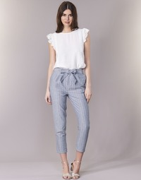 material Women 5-pocket trousers Betty London IKARALE Blue / White