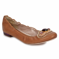 Shoes Women Ballerinas Sebastian AMARILLI Camel