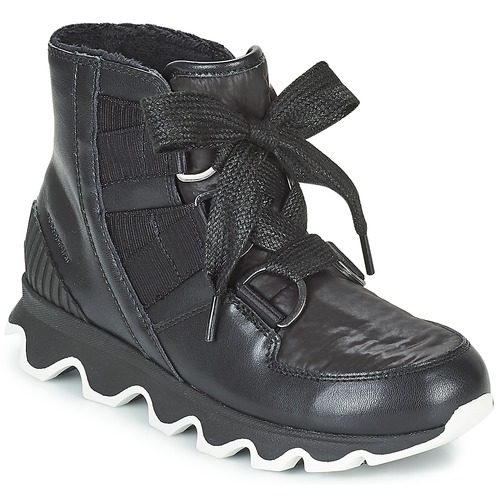 f73a3c81bf65 Sorel KINETIC™ SHORT LACE Black - Fast delivery with Spartoo Europe ...