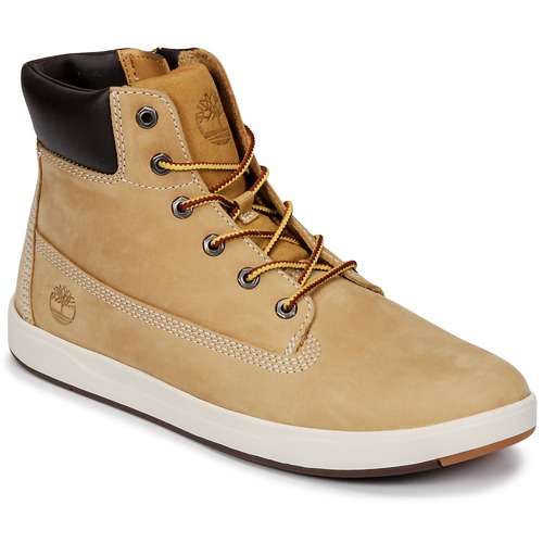 Shoes Children High top trainers Timberland Davis Square 6 Inch Boot Brown