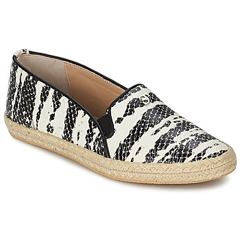 Shoes Women Slip ons SuperTrash ALISA Serpent / Black / BEIGE