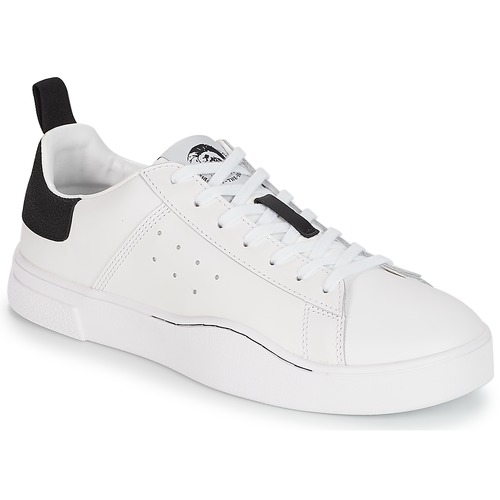 Diesel S-CLEVER LOW White   Black - Fast delivery with Spartoo ... 7f610553af14