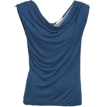 material Women Tops / Sleeveless T-shirts DDP CARLA Marine