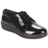Shoes Women Derby shoes FitFlop CRINKLE PATENT Black