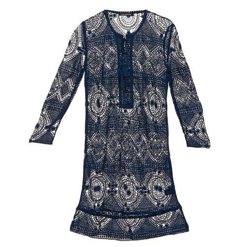 material Women Short Dresses Antik Batik LEANE Marine