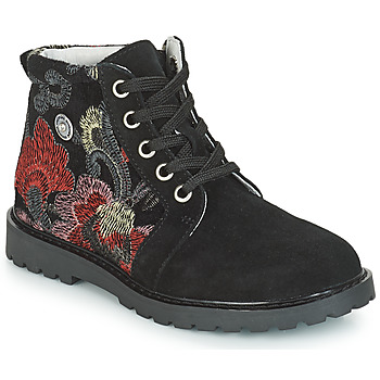 Shoes Girl Mid boots Catimini CAHAUT Black