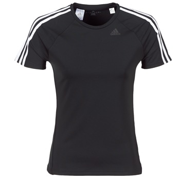 material Women short-sleeved t-shirts adidas Performance D2M TEE 3S Black