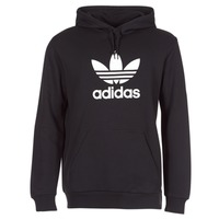 material Men sweaters adidas Originals TREFOIL HOODIE Black