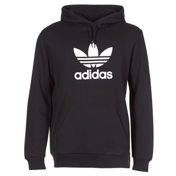 material Men sweaters adidas Originals TREFOIL HOODIE Black
