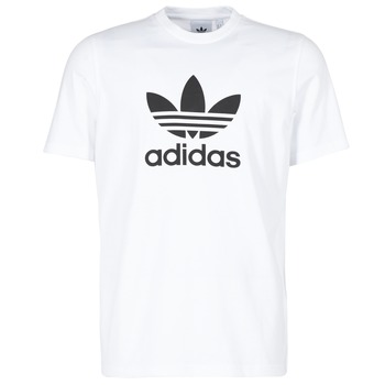 material Men short-sleeved t-shirts adidas Originals TREFOIL T-SHIRT White