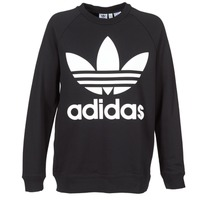 material Women sweaters adidas Originals OVERSIZED SWEAT Black