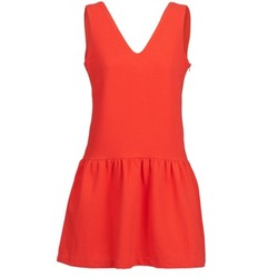 material Women Short Dresses Suncoo CERENA Coral