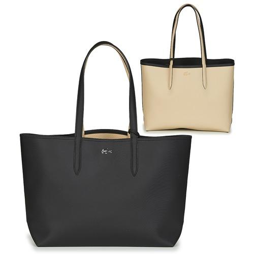 Bags Women Shopper bags Lacoste ANNA Black / Beige