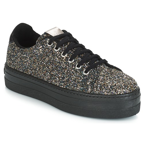 Shoes Women Low top trainers Victoria DEPORTIVO GLITTER/CARAMELO Black