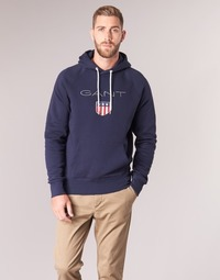 material Men sweaters Gant GANT SHIELD SWEAT HOODIE Marine
