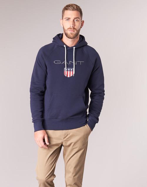 material Men sweaters Gant GANT SHIELD SWEAT HOODIE Marine