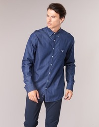 material Men long-sleeved shirts Gant THE INDIGO REG BD Blue