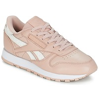 Shoes Women Low top trainers Reebok Classic CLASSIC LEATHER Pink / White