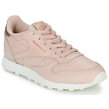 Shoes Girl Low top trainers Reebok Classic CLASSIC LEATHER J Pink