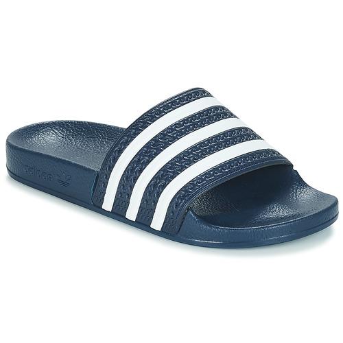 Shoes Tap-dancing adidas Originals ADILETTE Marine / White