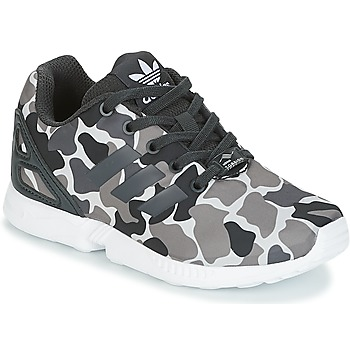 Shoes Boy Low top trainers adidas Originals ZX FLUX C Kaki