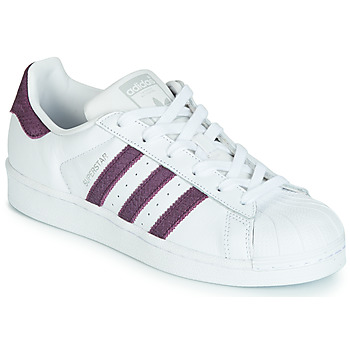 Shoes Women Low top trainers adidas Originals SUPERSTAR W White / Violet