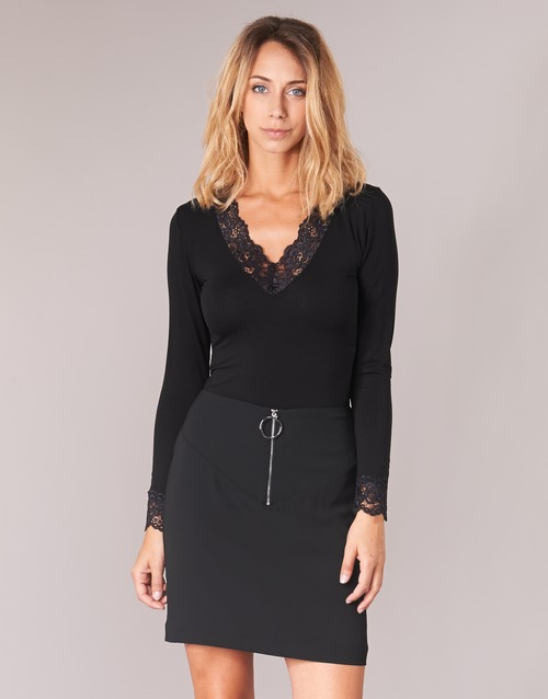 material Women Long sleeved shirts Morgan TRACY Black