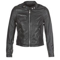 material Women Leather jackets / Imitation leather Schott LCW9641A Black
