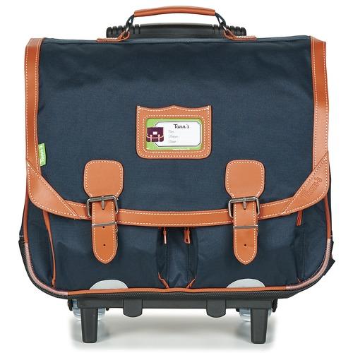 Bags Boy Rucksacks / Trolley bags Tann's CAMILLE TROLLEY CARTABLE Marine