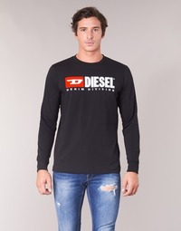 material Men Long sleeved shirts Diesel T JUST LS DIVISION Black
