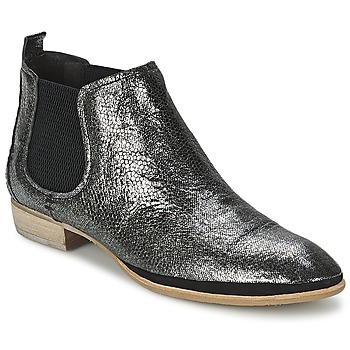 Shoes Women Mid boots Un Matin d'Ete TOBAGO Black / Silver