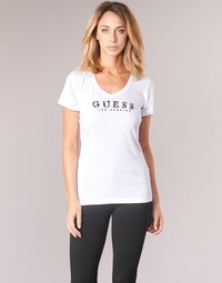 material Women short-sleeved t-shirts Guess GIPSY White