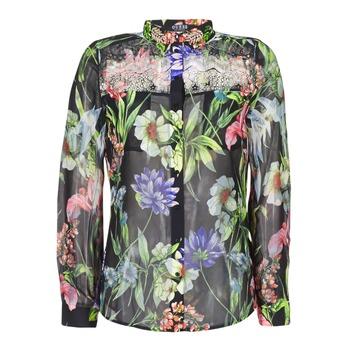material Women Shirts Guess CLOUIS Black / Multicoloured