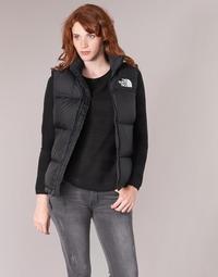 material Women Duffel coats The North Face NUPTSE VEST Black