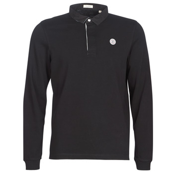 material Men long-sleeved polo shirts Serge Blanco POLO JERSEY Black