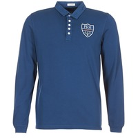 material Men long-sleeved polo shirts Serge Blanco POLO France Blue