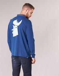 material Men long-sleeved polo shirts Serge Blanco POLO France Blue