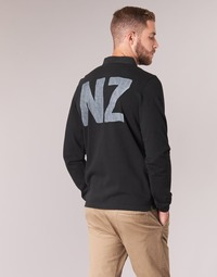material Men long-sleeved polo shirts Serge Blanco POLO NEW ZEALAND Black